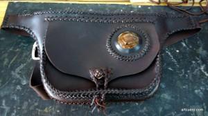 Cosido de un bolso