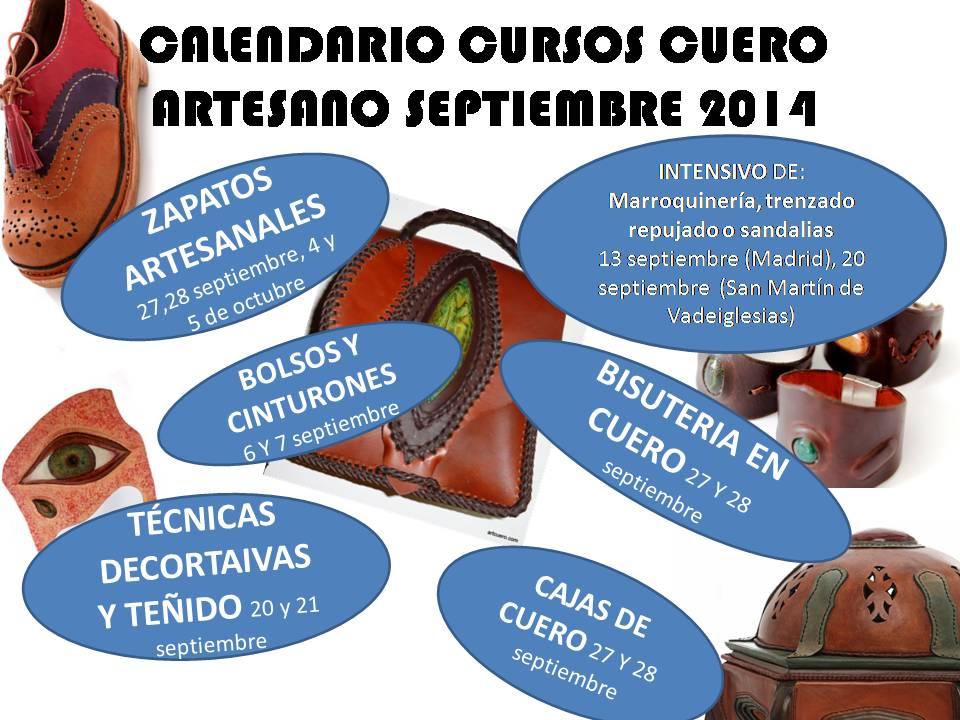 Cursos de cuero artesano para septiembre de 2014