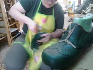 Montando el zapato