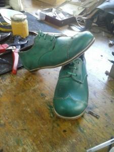 Zapato terminado de una de nuestras alumnas