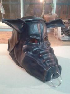Halloween mascara cuero teatro mascara decorativa artcuero (13)