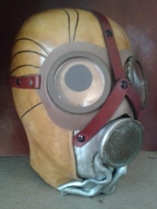 Halloween mascara cuero  teatro mascara decorativa artcuero (8)