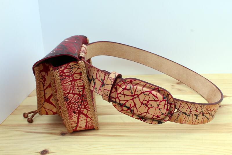 teñir cuero con batik